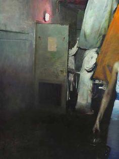 Justin Mortimer  Chamber  240 x 180 cm  2011-12  #Painting #art #contemporaryart