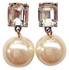 J.CREW Crystal Gem Pearl Drop Earrings. Get the lowest price on J.CREW Crystal Gem Pearl Drop Earrings and other fabulous designer clothing and accessories! Shop Tradesy now