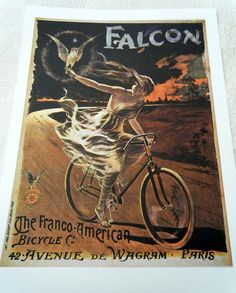 Vintage Bicycle Poster French Falcon Bicycles