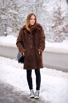 !by ANNA - Fashion and Lifestyle Blog: Shearling Coat & Chucks