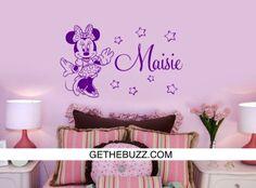 Custom Name Minnie Vinyl Wall Decal