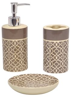 This Ornate Hand Crafted Bathroom Accessory Set Is Available As A - Where to buy bathroom accessories