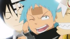 Kid, Black Star and Soul Soul Eater Kid, Soul Eater Death, Black Star Soul Eater, Black Anime Characters, Fictional Characters, Gekkan Shoujo, Cartoon Profile Pictures, Soul X Maka, Anime Crossover