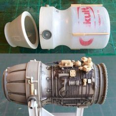 Scratchbuilding a MaK's engine from a Yakult bottle: Warhammer 40k, Arte Robot, Spaceship Design, Modeling Techniques, Wargaming Terrain, Tips And Tricks, Tabletop Games, Miniture Things, Stop Motion