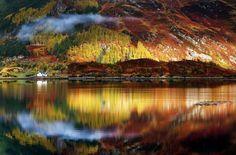 世界各国のブリリアントな秋景色の写真 > スコットランド、ハイランド