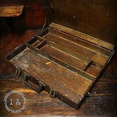 Vintage Wolsey Co Artists Supply Case With Pallet Wooden Finger Joint Box | Other Painting Supplies | Painting - Zeppy.io