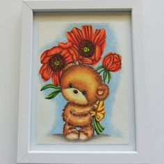 One of our sponsors for April and  our 3rd birthday challenge Di's Digi Stamps Image is called Bouquet Teddy