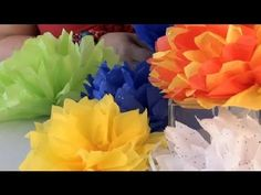 How to Fold & Cut a Paper Flower Ball : Festive Decorations Tissue Paper Ball, Paper Flower Ball, Crepe Paper, Cold Porcelain Tutorial, Mexican Flowers, Mexican Christmas, Hawaiian Decor, How To Make Paper Flowers, Crafts For Seniors