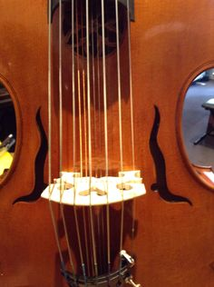 """Viola D'Amore. Sound holes """"the flaming sword of Islam"""" and a pretty rosette!"""