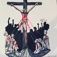 Jesus Son Of God, Jesus Art, Christian Artwork, Christian Images, Catholic Art, Religious Art, Jesus Cartoon, Jesus Drawings, Jesus Wallpaper