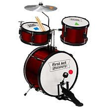 First Act Discovery 4 Piece Drum Set... Got this for Maddox for Christmas in black!