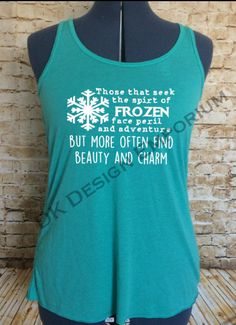 Frozen Maelstrom Inspired Flowy Women's Tank  by DKDesignEmporium