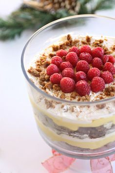 Eggnog gingerbread trifle... I knew this could either be a disaster or a miracle.. it was a miracle!