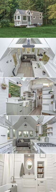 The Heritage is the debut tiny house built by Oliver Stankiewicz and Cera Bollo at Summit Tiny Homes, located in Armstrong, British Columbia. Tiny Home Plans, Diy Shed Plans, House Plans, Tiny Home Designs, Small Home Design, Tiny House Living, Small Living, Cottage Living, Small Homes