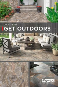 Build more than just a patio. Create an outdoor oasis for your home that calms, soothes, and invigorates. Explore our Inspiration Catalog for ideas on how to incorporate tile, slate, or stacked stone, outdoors. Floor & Decor