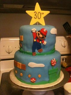 Mario 30th Birthday Cake for my fiancee