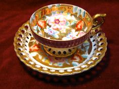Vintage Teacup and Saucer by Ardalt Japan