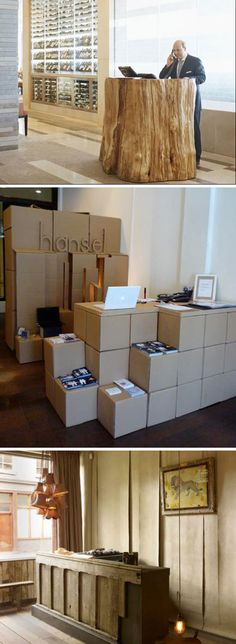 Cardboard pop up Point of Sale, Point of Design | Rena Tom