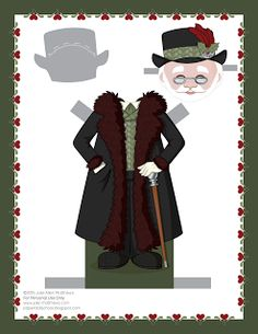 Paper Doll School: December Paper Doll -- Santa Claus Paper Doll, Outfit 15