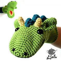 Dragon Puppet #crochet #pattern