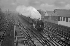 Photo of King Arthur Class 30798 on an up Salisbury to .Waterloo train approaches Wimbledon on a very wet day in Southern Trains, Grey Wallpaper Iphone, Young Lad, Southern Railways, Old Trains, British Rail, History Images, Steamers, Bahn