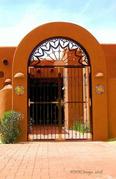 Gated Entry    The southwestern look of a private residence in the mountain foothills of Tucson Arizona