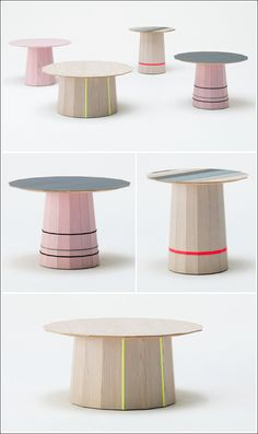 These sleek little numbers are from Scholten & Baijings, a Amsterdam-based duo renowned for their beautiful and minimalist product design. Surprisingly delicate neon and pastel colour usage and geometric liners patterns are their design signature, and once you see their style looking across their product portfolio, it won't be long until you start seeing them popping up across the board. These tables are currently on sale at the London-based design shop, TwentyTwentyOne