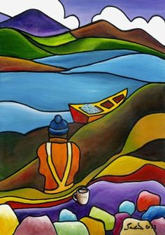 Fishing Lyons Leenane Galway by Saileen Drumm on ArtClick.ie