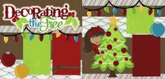 Decorating The Tree-Girl Page Kit