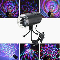 SOLMORE Lampe de Scène RGB/GVB DJ LED Atmosphère Lumière Ampoule Boule Cristal Commande Sonore pour Disco/Bal/Soirée/Bar/Club/Anniversaire…