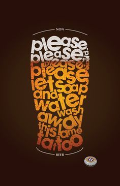 alcohol typography - Google Search