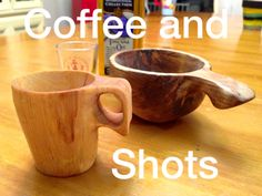 http://www.paracordist.com #bushcraft both carved from birch. 1.5oz shot glass and 6 oz coffee kuksa