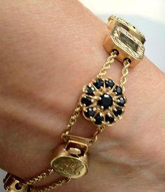 sapphire slide bracelet