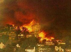 October 20 - The Oakland Hills firestorm kills 25 and destroys 3,469 homes and apartments.