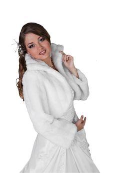 Veste blanc ivoire noir femme pour mariée fourrure de vison boléro ...