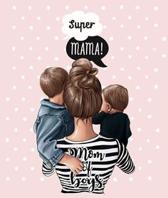 New Ideas Quotes Family Kids Sons Boys Mother Daughter Art, Mother Art, Mom Son, Baby Girl Drawing, Girl Drawing Sketches, Cute Drawings, Drawing Art, Drawing Ideas, Sketch Ideas