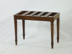 A 19th century mahogany luggage rack, on turned supports Sold for £360 on 29th July 2015