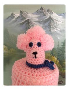 Crocheted Poodle Toilet Roll Cover - by All-Things-Crochet on madeit