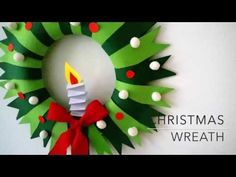 Paper #Wreath for #Christmas - How to Make Accordion Paper Folding Wreath for Christmas Indoor Decorations. #DIY Christmas Wreath for holiday decorations: Di...