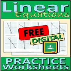 Free Digital Practice Worksheets - Linear Equations by Rethink Math Teacher