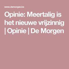 Opinie: Meertalig is het nieuwe vrijzinnig | Opinie | De Morgen
