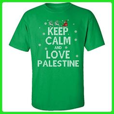 Keep Calm And Love Palestine Country Ugly Christmas Sweater - Adult Shirt - Holiday and seasonal shirts (*Amazon Partner-Link)