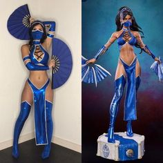 Kitana Costume - Real Time - Diet, Exercise, Fitness, Finance You for Healthy articles ideas Badass Halloween Costumes, Halloween Rave, Mortal Kombat Halloween Costume, Halloween Costumes For Brunettes, Sexy Ninja Costume, Disney Halloween Makeup, Halloween Outfits For Women, Anime Halloween, Halloween 2020