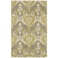 Hand-tufted Manhattan Yellow Ikat Rug (7'6 x 9') $409