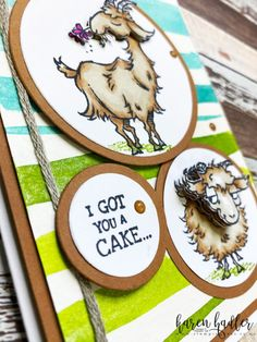 Edit Post ‹ Stamping Bees — WordPress Homemade Birthday Cards, Homemade Cards, Stamping Up Cards, Rubber Stamping, Small Goat, Animal Cards, Cute Images, Pretty And Cute, Cool Cards