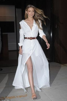 Heaven sent!Gigi Hadid transformed the streets of New York City into her personal runway as she left her apartment on Wednesday