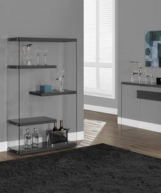 New Another great find on zulily Glossy Gray Tempered Glass Floating Shelf Bookcase zulilyfinds