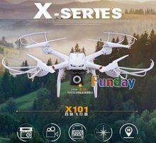Mjx X101 RC Quadcopter avec caméra HD 720 P FPV vidéo en temps réel hélicoptère télécommande grand Drone One - clé retour PK X8W V666(China (Mainland))