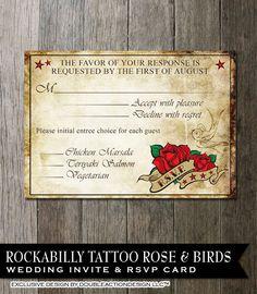 Retro Rockabilly Wedding invite