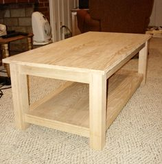 DIY coffee table - would want to add casters for easier moving.